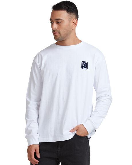 WHITE MENS CLOTHING RVCA TEES - R117092-WHT