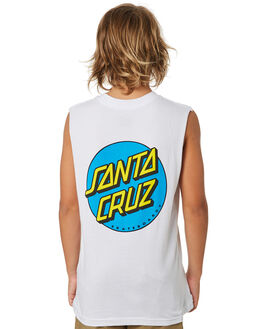 WHITE KIDS BOYS SANTA CRUZ TOPS - SC-YTA9164WHT