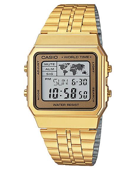 GOLD MENS ACCESSORIES CASIO WATCHES - A500WGA-9DF