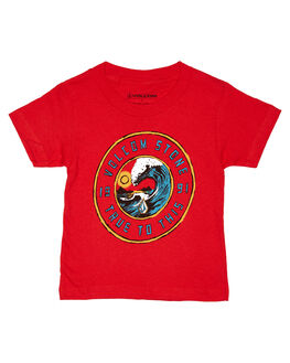 RED KIDS TODDLER BOYS VOLCOM TEES - Y35218D1RED