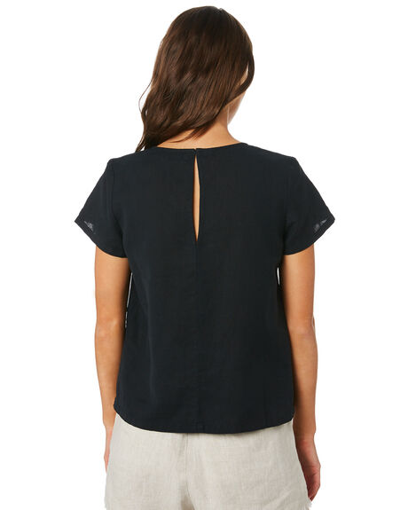 WASHED BLACK WOMENS CLOTHING SWELL FASHION TOPS - S8201024BKWSH