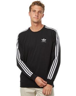 BLACK MENS CLOTHING ADIDAS ORIGINALS JUMPERS - BR4931BLK