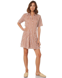 GOLD STRIPE WOMENS CLOTHING RUE STIIC DRESSES - WS18-11-GP-CBGSTR
