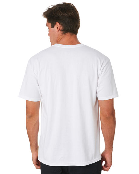 WHITE OUTLET MENS HUF TEES - TS00585-WHITE