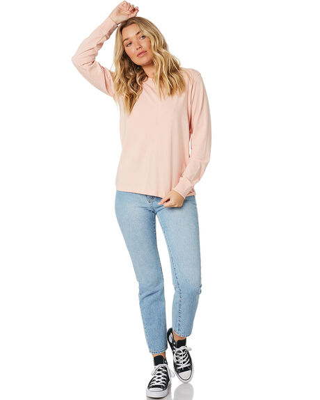 PALE PINK WOMENS CLOTHING AS COLOUR TEES - 4056PPNK