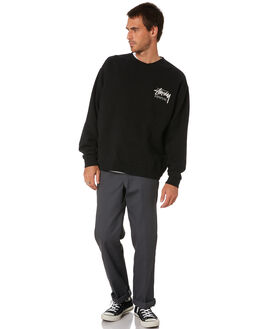 BLACK MENS CLOTHING STUSSY JUMPERS - ST006202BLK