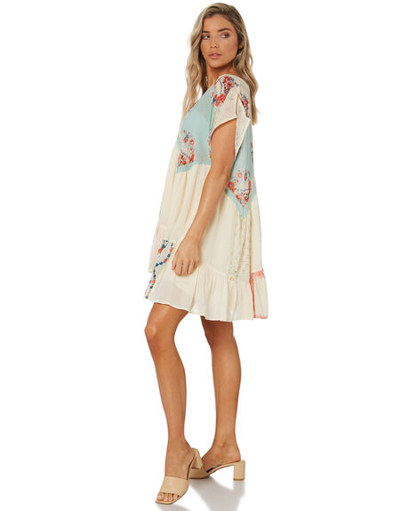 LIGHT COMBO WOMENS CLOTHING FREE PEOPLE DRESSES - OB1265991LCMBO