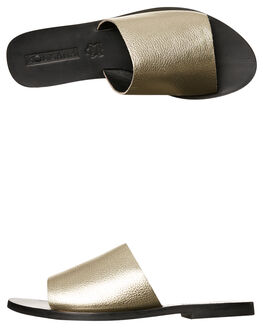 GOLD METALLIC WOMENS FOOTWEAR SOL SANA SLIDES - SS172S401GLD