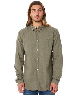 LIGHT GREEN NEPS MENS CLOTHING DR DENIM SHIRTS - 1111108LGNPS