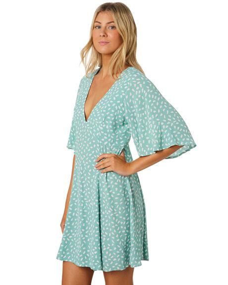TURQUOISE WOMENS CLOTHING MINKPINK DRESSES - MP1908476TURQ