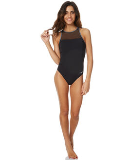 BLACK WOMENS SWIMWEAR ZOGGS ONE PIECES - 1149180BLK