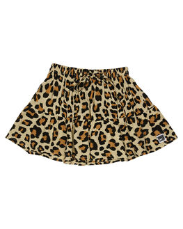 LEOPARD PRINT KIDS GIRLS SWEET CHILD OF MINE SHORTS + SKIRTS - SP19RARASKRTLEO