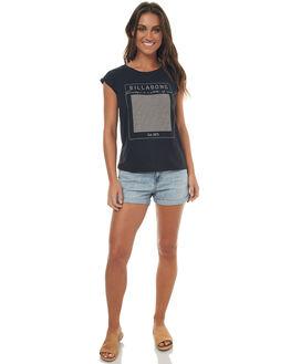 BLACK WOMENS CLOTHING BILLABONG TEES - 6571008BLK