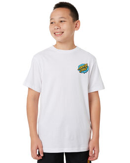 WHITE KIDS BOYS SANTA CRUZ TOPS - SC-YTA0366WHT