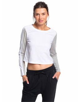 BRIGHT WHITE WOMENS CLOTHING ROXY TEES - ERJZT04659-WBB0