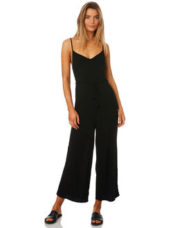 BLACK WOMENS CLOTHING ALL ABOUT EVE PLAYSUITS + OVERALLS - 6403017BLK
