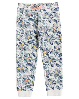 MARSHMALLOW FLOWER KIDS GIRLS ROXY PANTS - ERLFB03060-XMBW