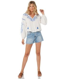 WHITE WOMENS CLOTHING TIGERLILY FASHION TOPS - T305043WHT