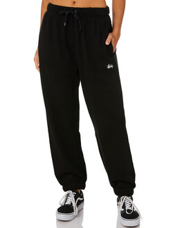 BLACK WOMENS CLOTHING STUSSY PANTS - ST105610BLK