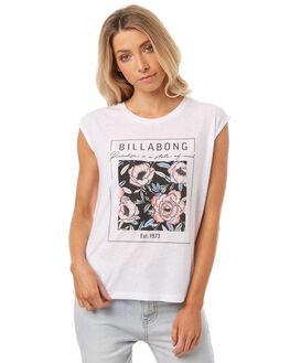 WHITE WOMENS CLOTHING BILLABONG TEES - 6571012WHT