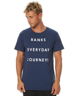 INSIGNIA BLUE MENS CLOTHING BANKS TEES - WTS0133ISB