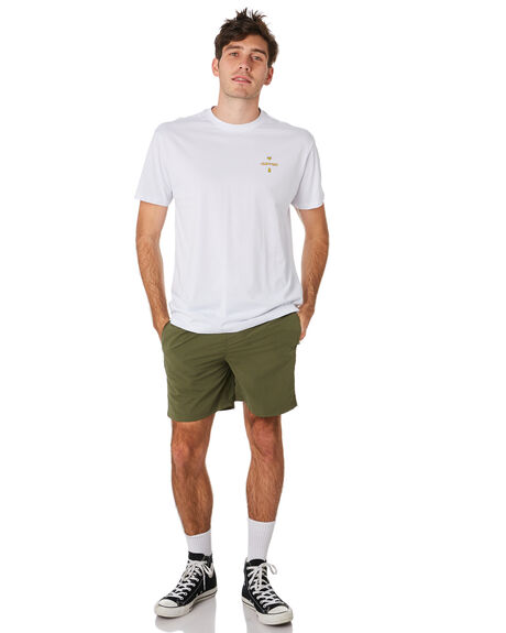 WHITE OUTLET MENS HUFFER TEES - MTE93S40108WHT