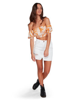 WHITE WOMENS CLOTHING BILLABONG SKIRTS - BB-6591524-WHT