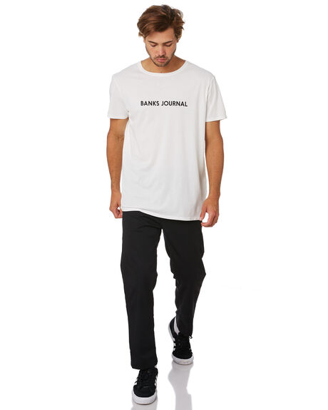 OFF WHITE MENS CLOTHING BANKS TEES - WTS0429OWH