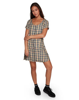 OATMEAL WOMENS CLOTHING RVCA DRESSES - RV-R207756-O10