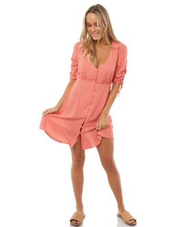 RED WOMENS CLOTHING THE HIDDEN WAY DRESSES - H8182447RED
