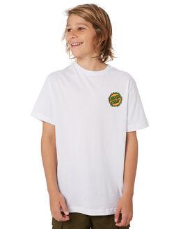 WHITE KIDS BOYS SANTA CRUZ TOPS - SC-YTD9263WHT