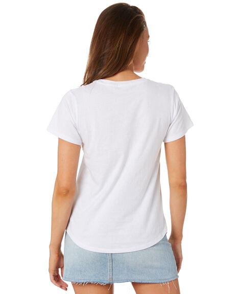 WHITE WOMENS CLOTHING COOLS CLUB TEES - 104-CW5WHI