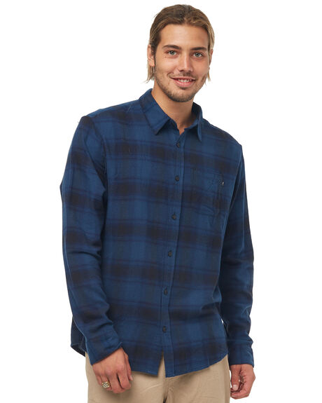 NAVY BLUE OUTLET MENS RUSTY SHIRTS - WSM0812NVB