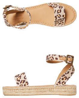 LEOPARD WOMENS FOOTWEAR SOLUDOS FASHION SANDALS - 1000607-211LEOP