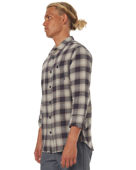 CHARCOAL MENS CLOTHING BILLABONG SHIRTS - 9571212CHAR