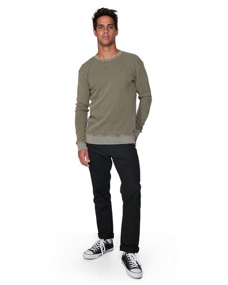 DUSTY OLIVE MENS CLOTHING RVCA KNITS + CARDIGANS - RV-R393153-DOL