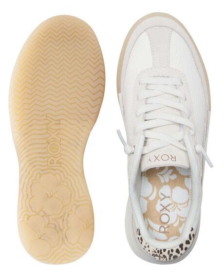 WHITE WHITE WOMENS FOOTWEAR ROXY SNEAKERS - ARJS100029-WW0
