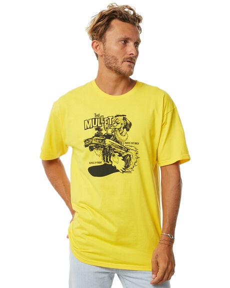 YELLOW MENS CLOTHING BRIXTON TEES - 06840YELLW