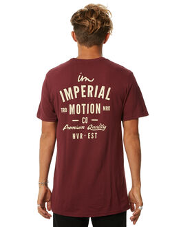 MAROON MENS CLOTHING IMPERIAL MOTION TEES - 201703002024MRN
