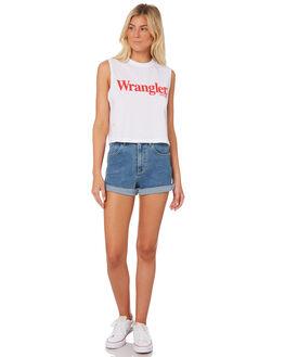 WHITE WOMENS CLOTHING WRANGLER SINGLETS - W-951295-N60