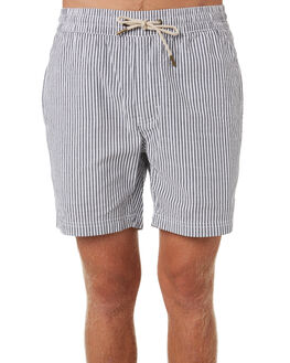 BLACK STRIPE MENS CLOTHING BARNEY COOLS SHORTS - 813-CC4BLKST
