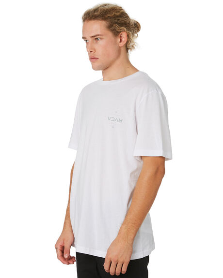 WHITE MENS CLOTHING RVCA TEES - R193042AWHT