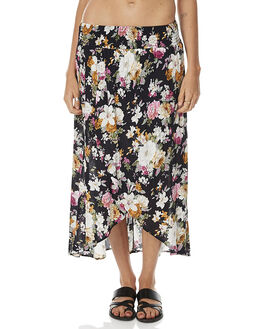 NAVY BLUE WOMENS CLOTHING AUGUSTE SKIRTS - AUG-DS3-17064-DBNNVY