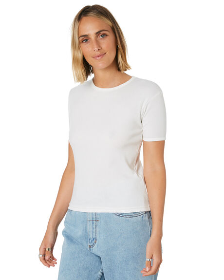 DIRTY WHITE WOMENS CLOTHING THRILLS TEES - WTS9-104ADWHT