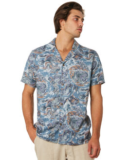 PACIFIC BLUE MENS CLOTHING RHYTHM SHIRTS - JUL19M-WT04-PAC