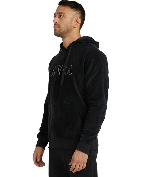 BLACK MENS CLOTHING RVCA HOODIES + SWEATS - R118153-BLK