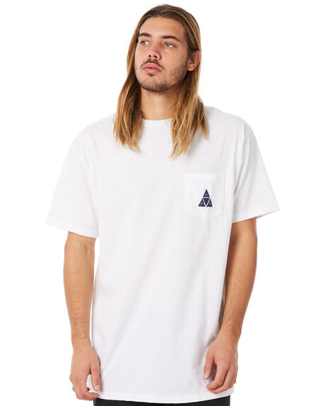 WHITE MENS CLOTHING HUF TEES - HUF-TS00332-WHT