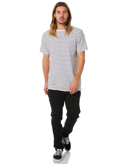 WHITE BLACK OUTLET MENS SWELL TEES - S5173015WHTBK
