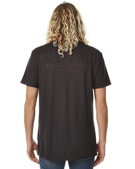 BLACK MENS CLOTHING AFENDS TEES - 01-10-003BLK