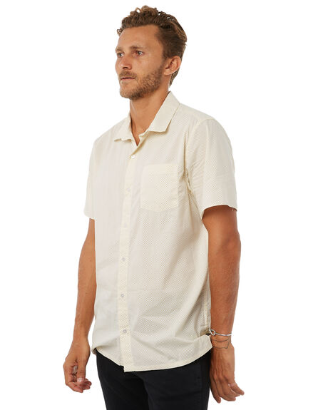 ANTIQUE WHITE MENS CLOTHING RVCA SHIRTS - R383185AWHT